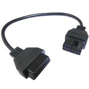 12Pin OBD2 Connector Adapter para Mitsubishi Auto Diagnostic Tool -Black Head