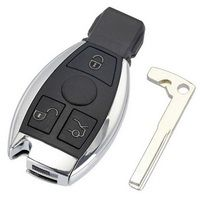 3 Buttons Remote Car Key Shell Key Replacement For Mercedes Benz year 2000 + NEC &BGA Control 433MHz
