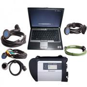 V2012.11 MB SD Connect Compact 4 Star Diagnosis with DELL D630 Laptop 4GB Memory Support Offline Programing