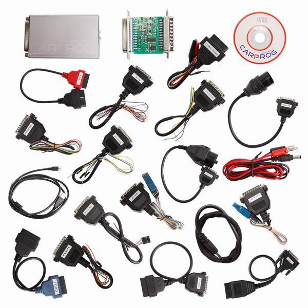 Carprog Full V10.93 com 21 Adapter Support Airbag Reset, Dash, IMMO, MCU /ECU